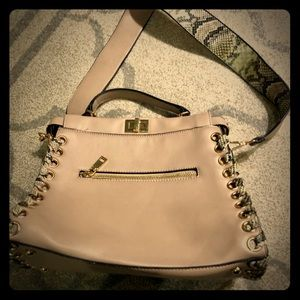 Taupe Beige Handbag Purse